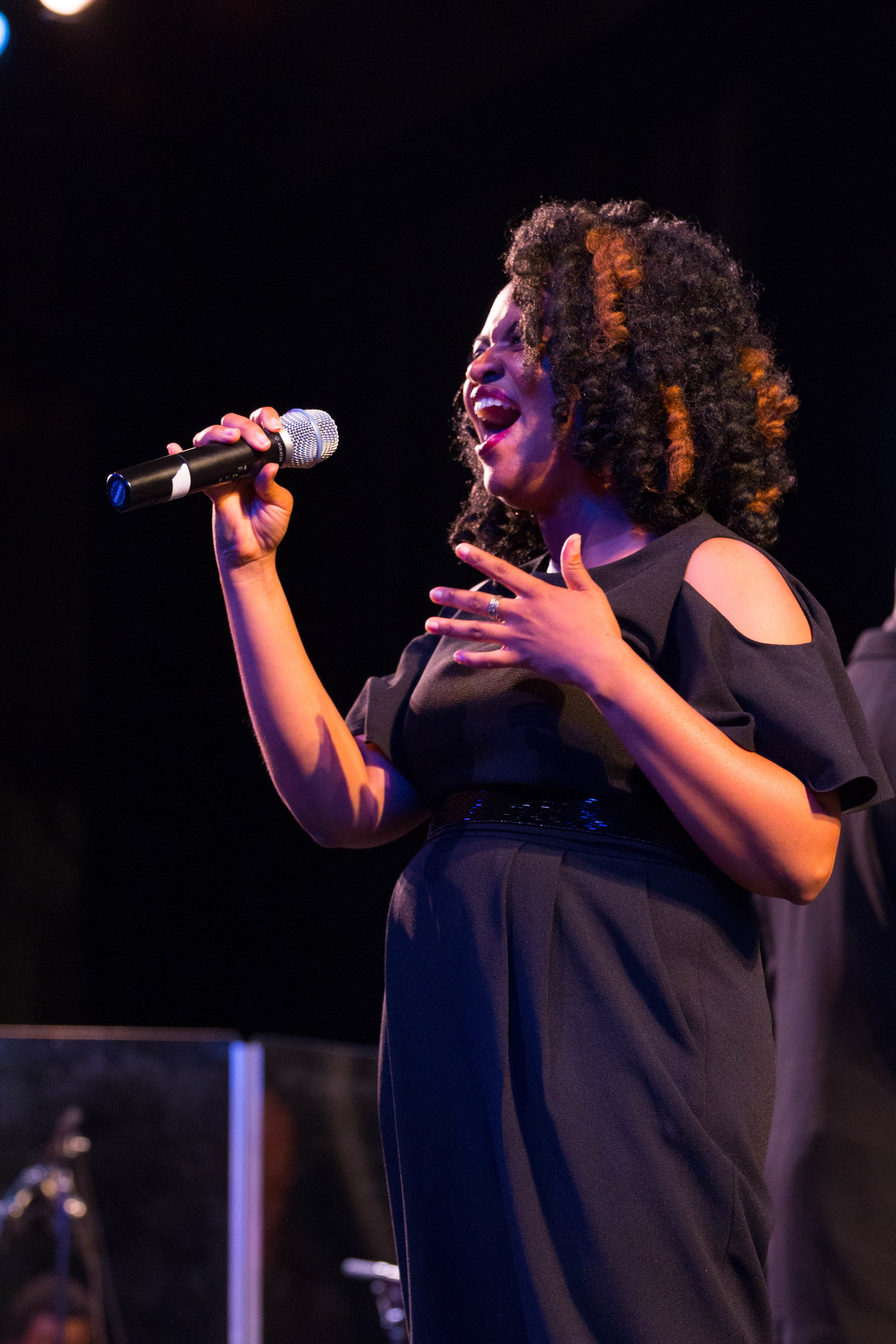 Wiljeana Jackson-Glover performing at the We Lift Our Voice! 2017 Benefit Concert.  Photo credit: Peter Ricci