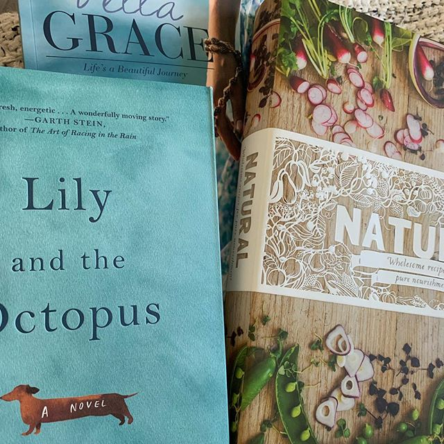 "A browse in the bookstore is one of my favorite things to do. I invoked ""anniversary"" to justify a splurge. He wants vintage albums. Nerds. 😊#ourthirtiethyear #lilyandtheoctopus #bellagracemagazine #naturalrecipes"
