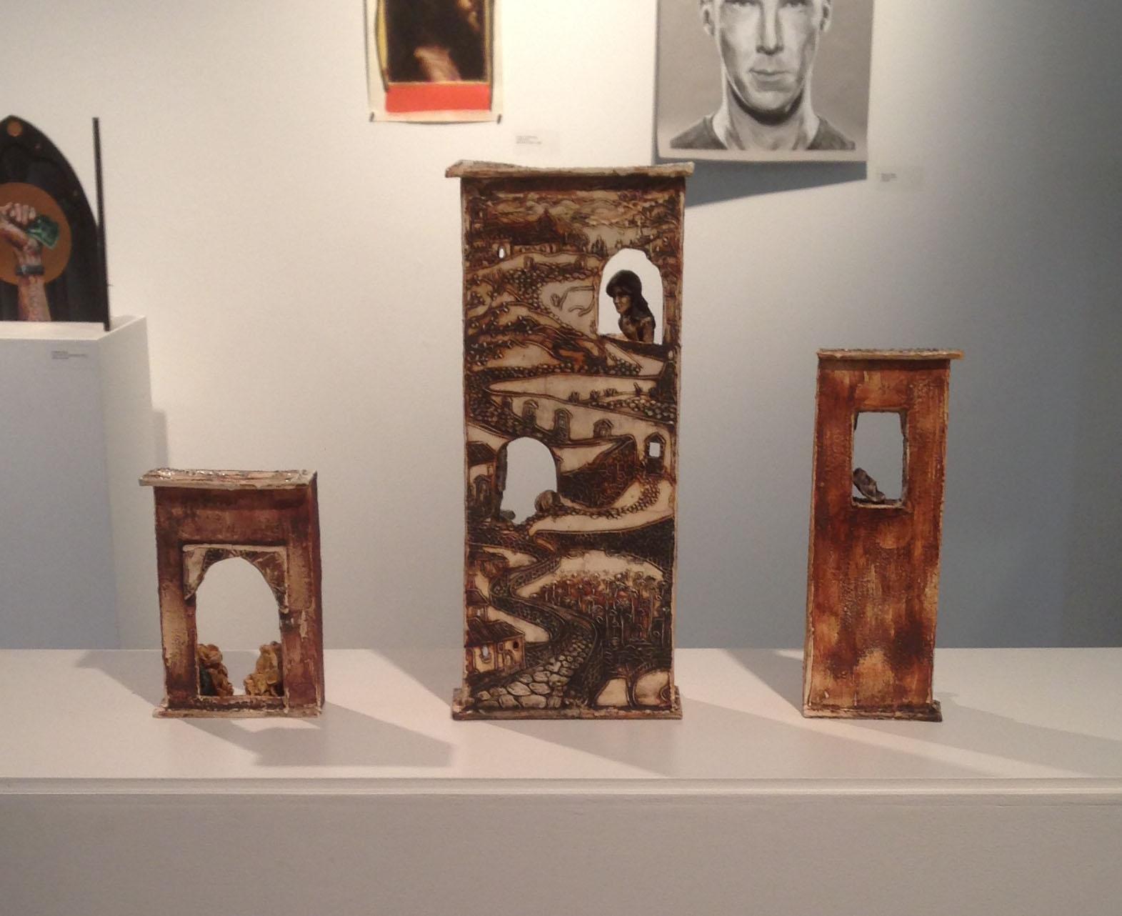A Journey's Past, porcelain, Fall 2013  Student Juried Show, Lamar Dodd School of Art
