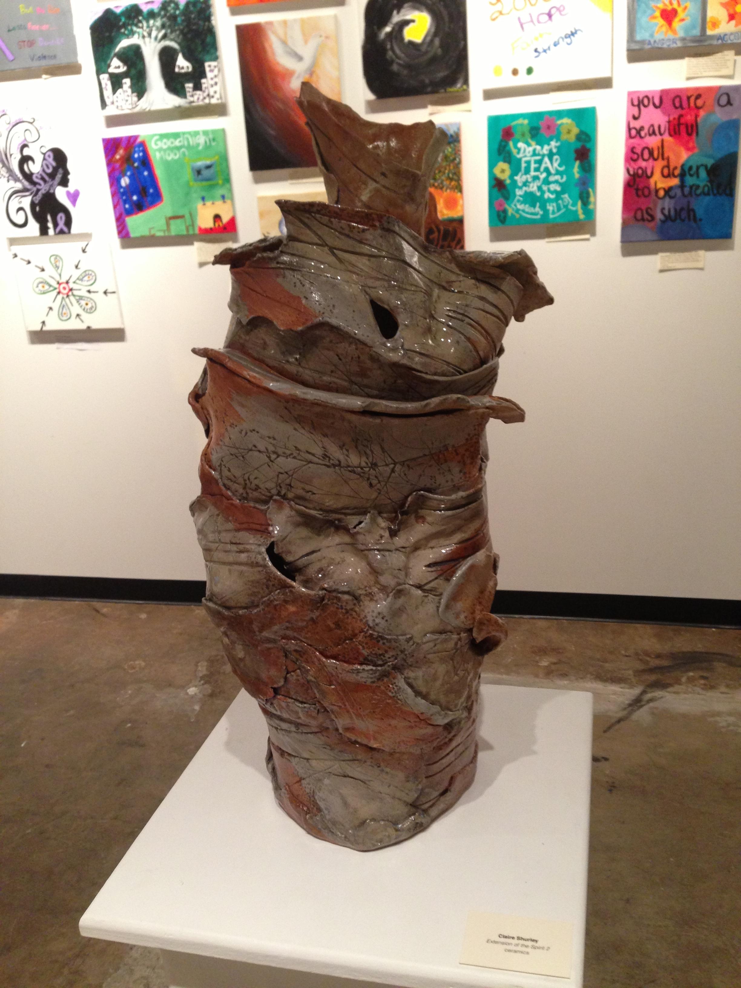 Extension of the Spirit, stoneware, Summer 2013  Pulaski Street Art Crawl, Artini's