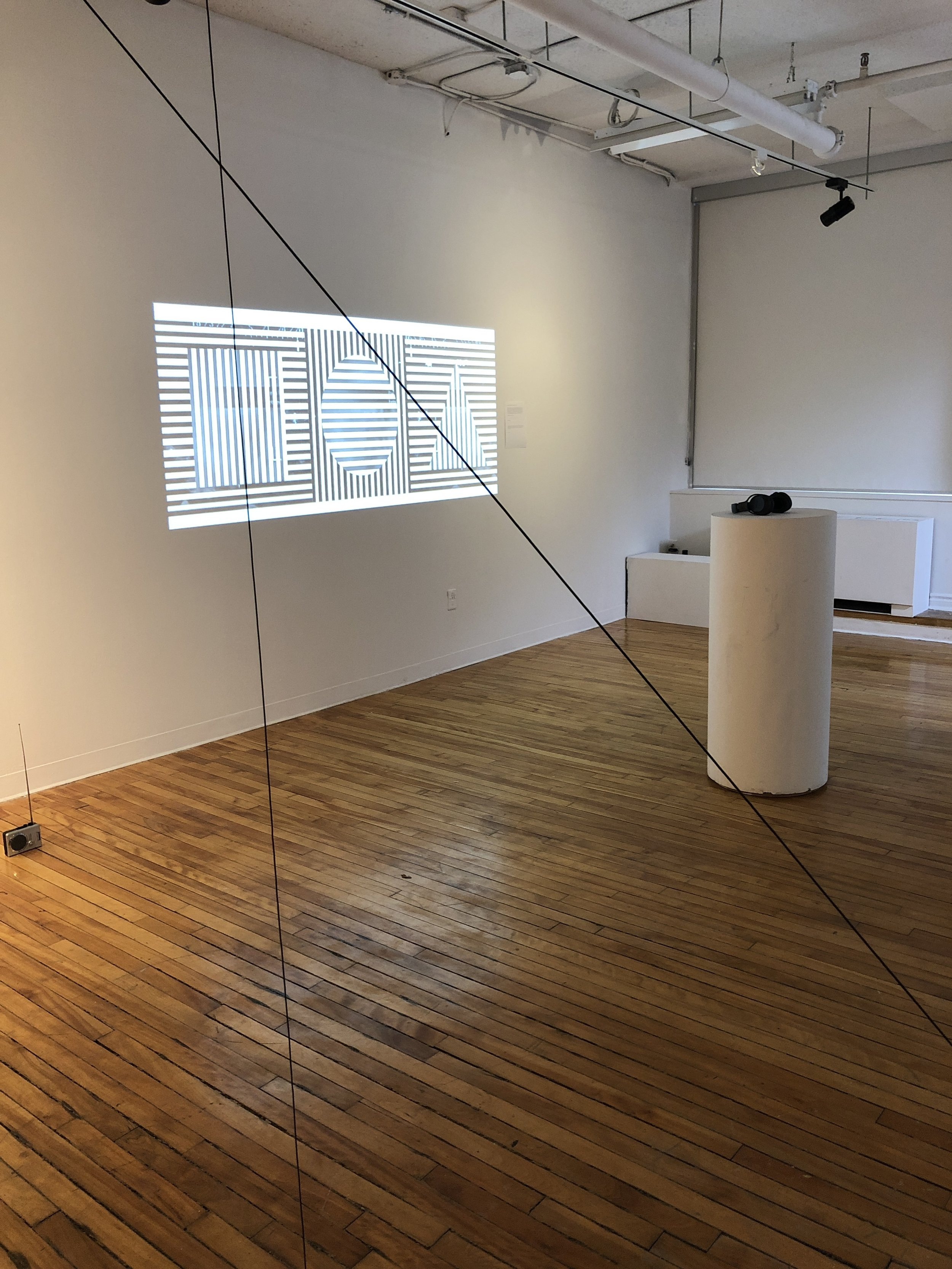 Installation within a group show.