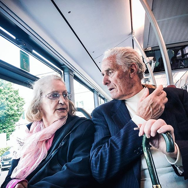 "#springsummer2019 #growingoldtogether #love #hate #dattuphoto #marriage  I was sitting across from this couple as they sat in the bus.  Not sure what they were talking about but the live was mixed with..well, ""I'm tired of you"". At least@in my assumptions.  I don't speak Italian though I am loving the attempt at Italian.  I loved this couple and their age.  So vital yet, they looked as though they were ready for the next stage in their life of death.  I appreciated their time infront of me as they bickered with each other.  No, I did not ask their permission...I like being a voyeur.  I like to watch, I always have.  Which is why I am a photographer."