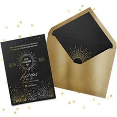 Дизайн пригласительных Black & Gold..