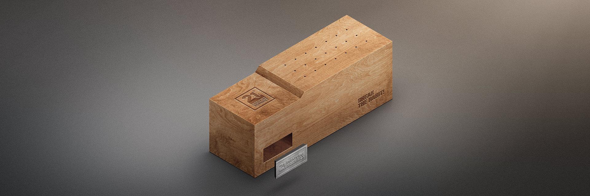 Twenty One Hobnails Wood Block Project