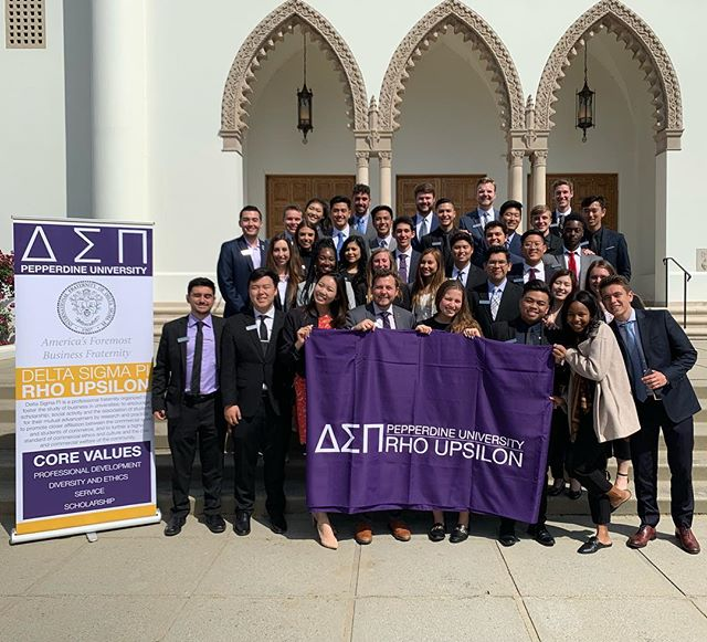 Congratulations to our Pi Pledge Class members who were initiated into @deltasigmapi at today's Joint Initiation Ceremony with @lmudsp! We are so proud of their hard work and excited to have these brothers in our chapter! 💜💛