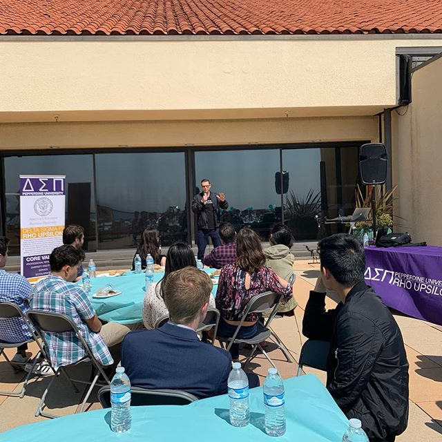 This afternoon the Rho Upsilon Chapter hosted a lunch gathering in Malibu for Alumni Brothers. Guest speakers included @brandonbirkmeyer and @codyanthonygarcia. Active alumni help make DSP what it is; thank you to all who came today! #Deltasigs