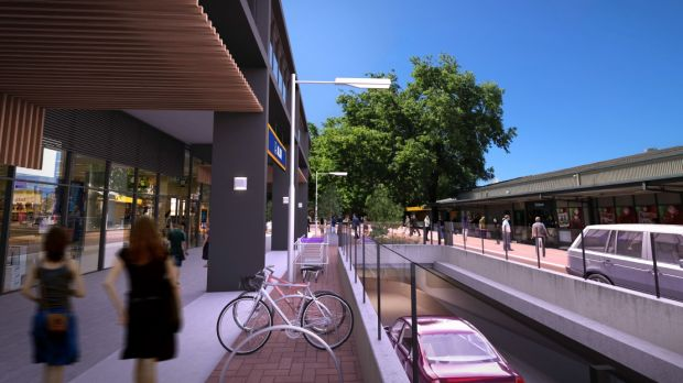 Artist's impression of the new Dickson shopping centre. While the development has been approved by the ACT Government, there is an appeal hearing beginning tomorrow which may alter the final result. Source: Canberra Times.