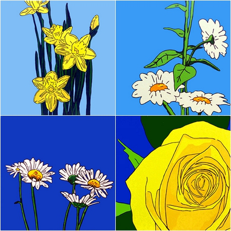 Daisy Skye Flower Paintings
