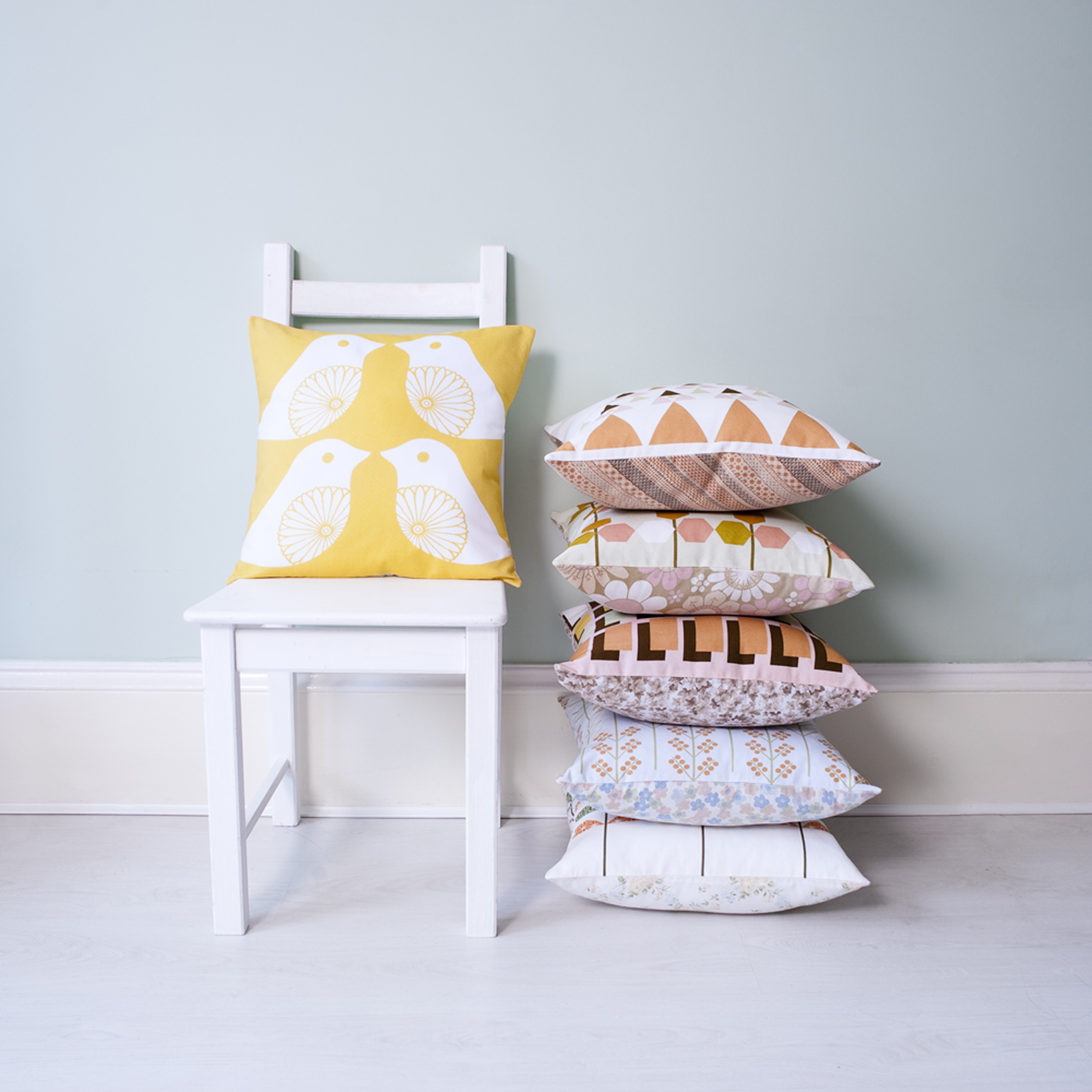 Clare Nicolson (B60) Stacked Cushions