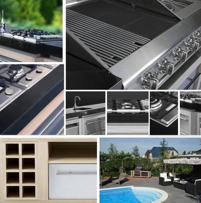 Luxius outdoor kitchen modular units