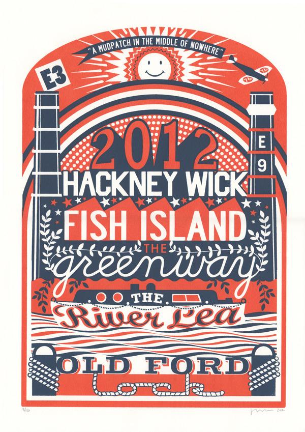 Hackney Wick print by James Brown