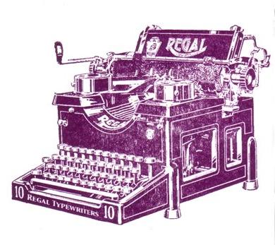 archivist letterpress card - typewriter