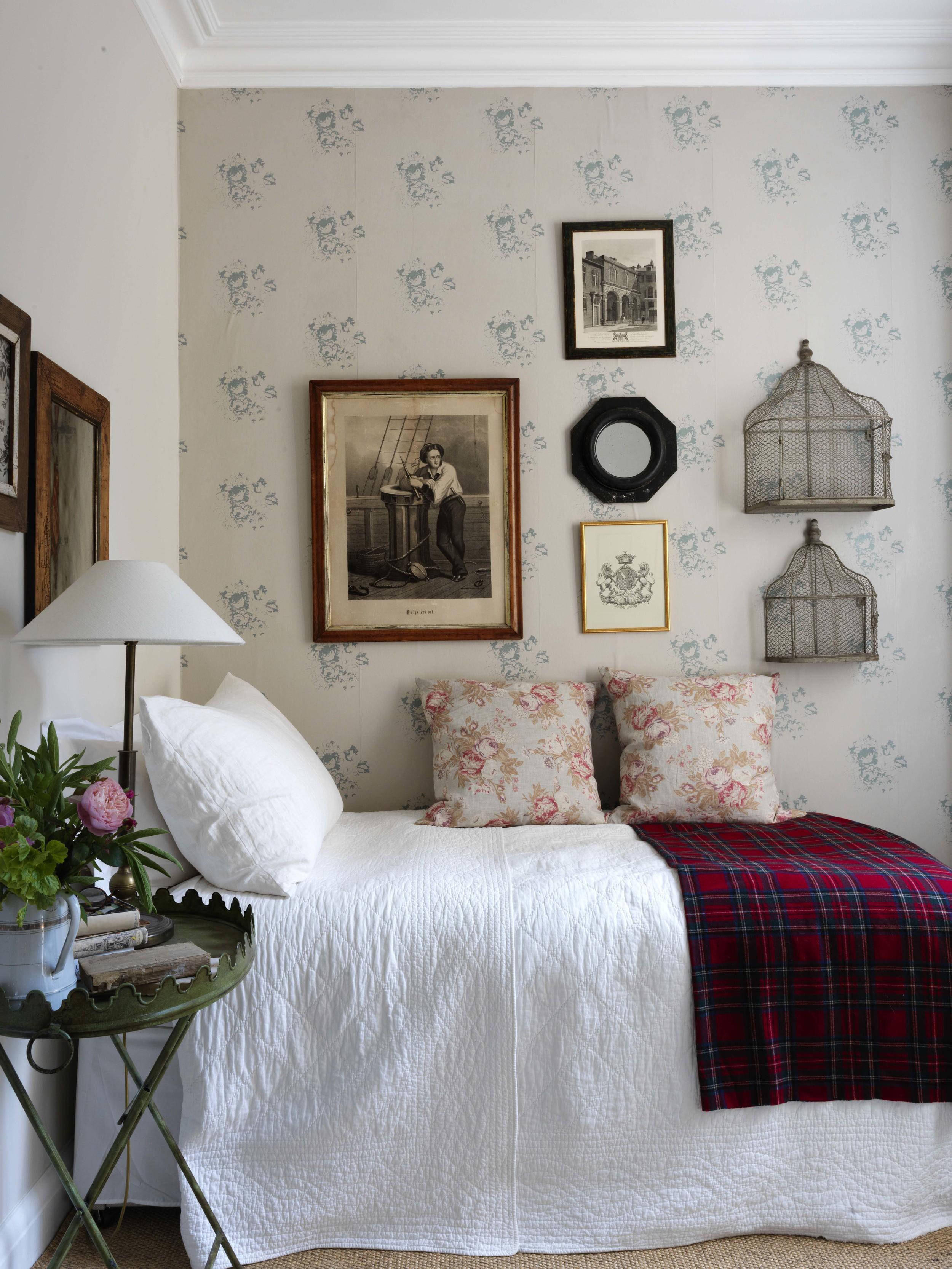 Natural Hatley Blue Wallpaper,Price - £28 per metre