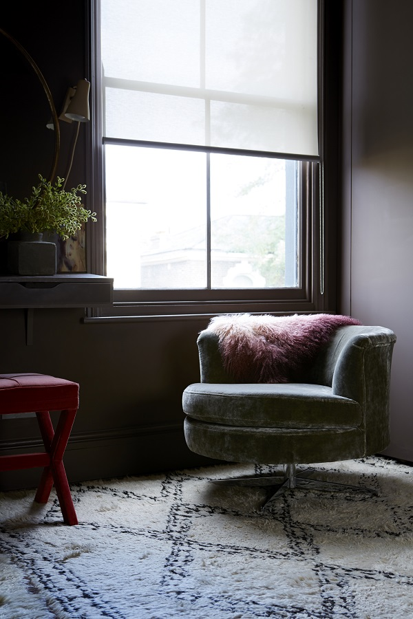 """The Stanley armchair, from £580 shown in Baltic, Roosevelt velvet £750.  """"This curvaceous chair is classy, sensual and adds immediate flair to any space. It envelops you as you sink into it, and cocoons you from the outside world."""""""