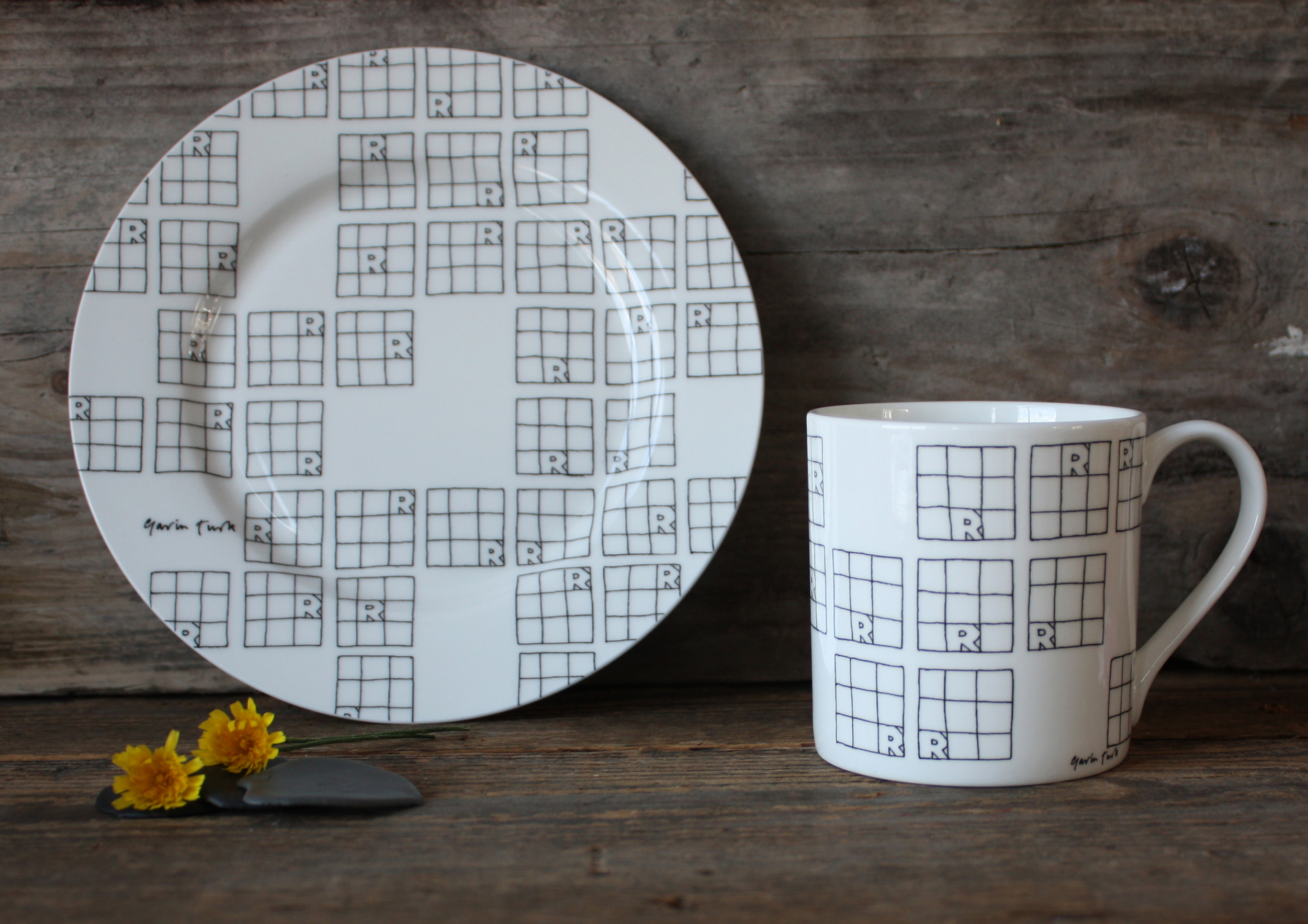 Gavin Turk Plate & Mug