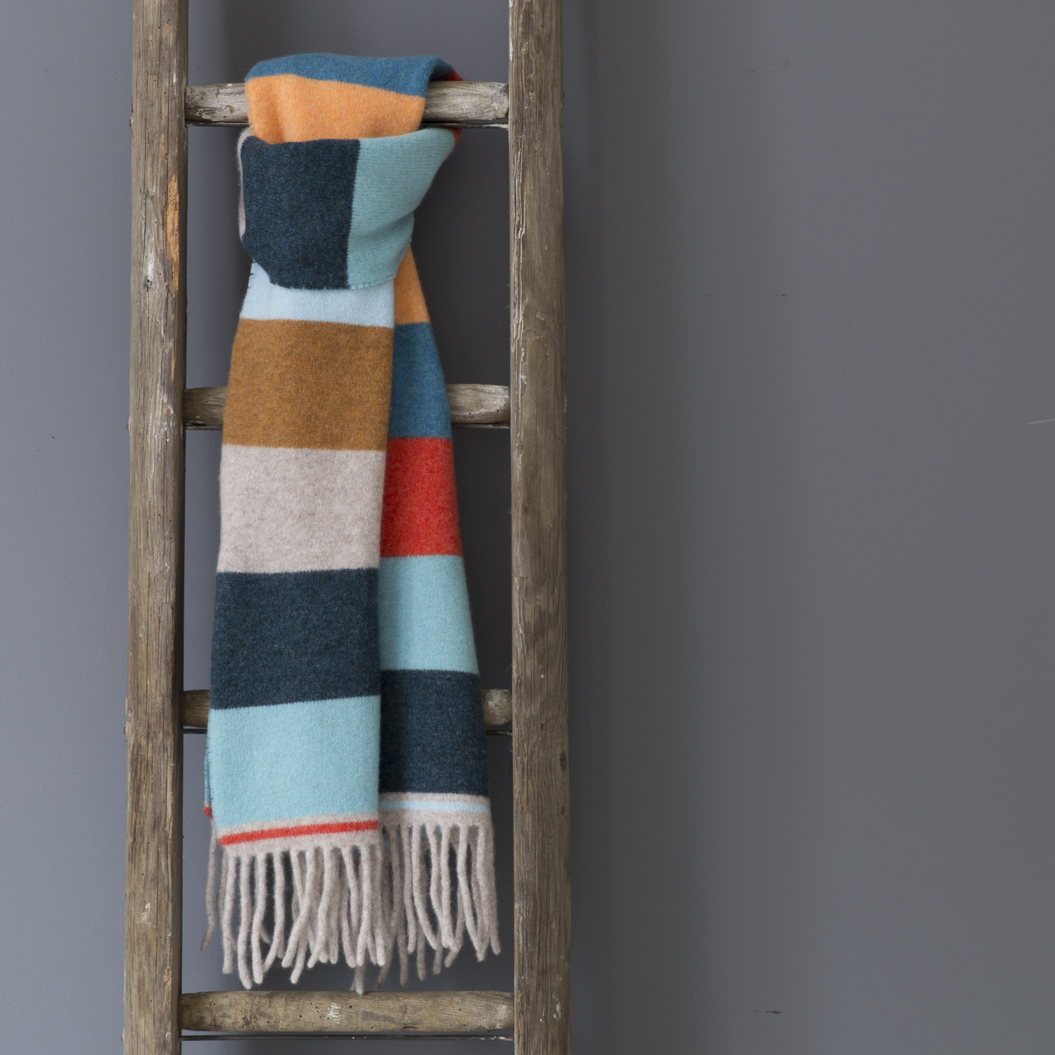Teal Multi Stripe Scarf