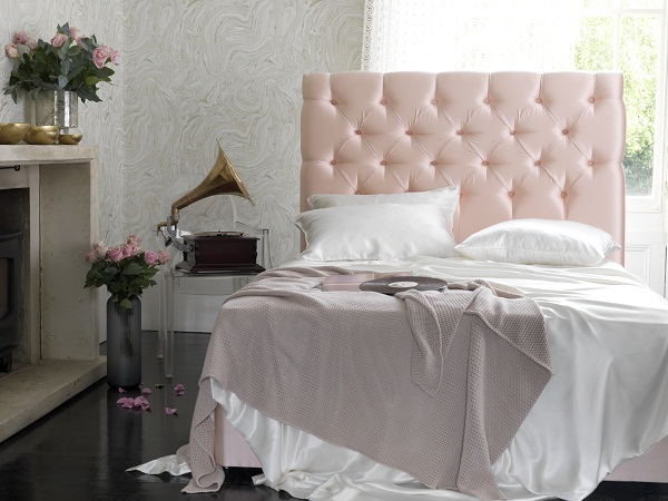 Foxtail Divan in Harlequin Tembok satin blush £1,280.