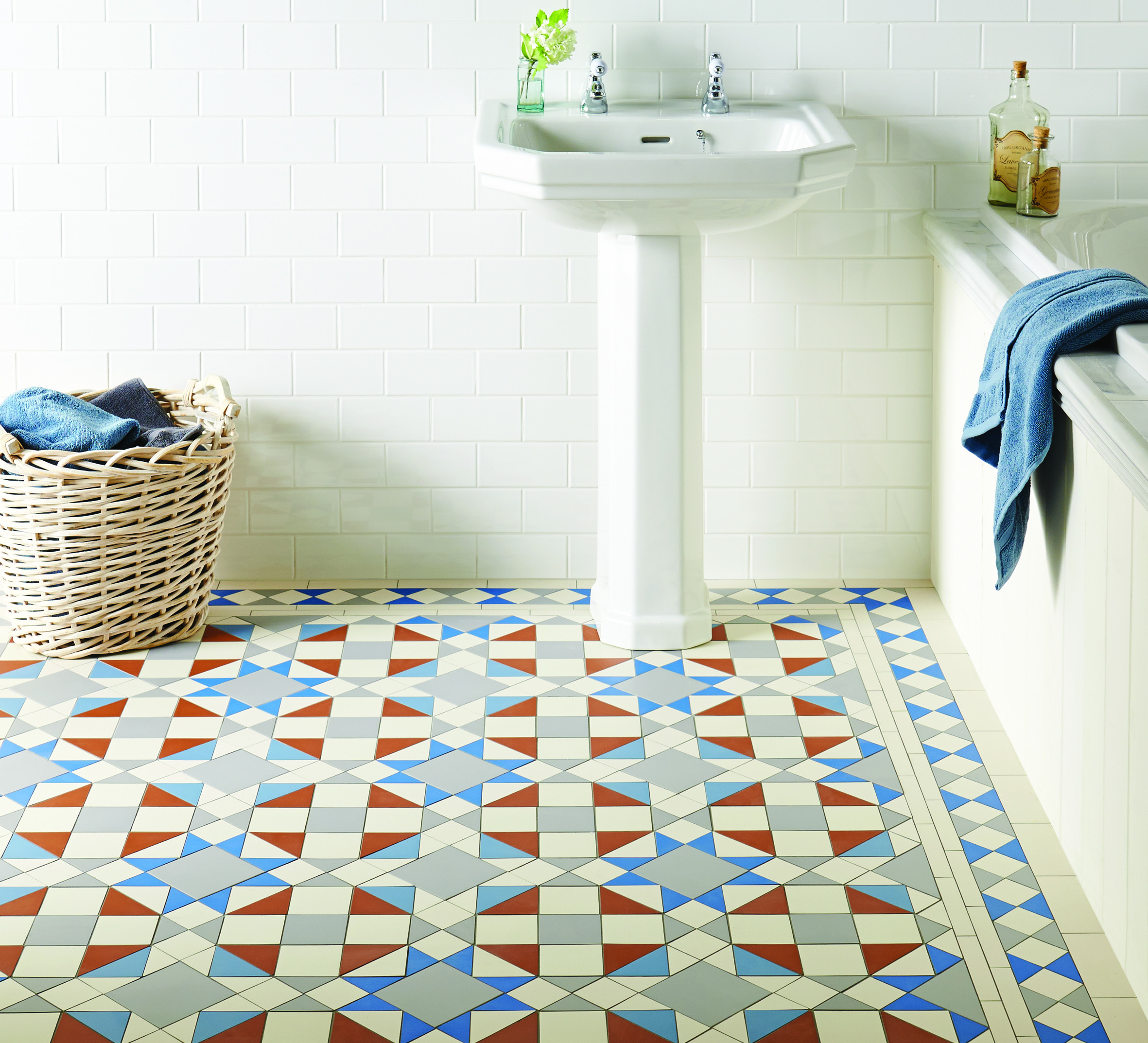 The Eltham pattern with Pugin Blue are both new additions to the range.