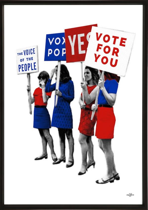 Art & Hue Vox Pop party Prints