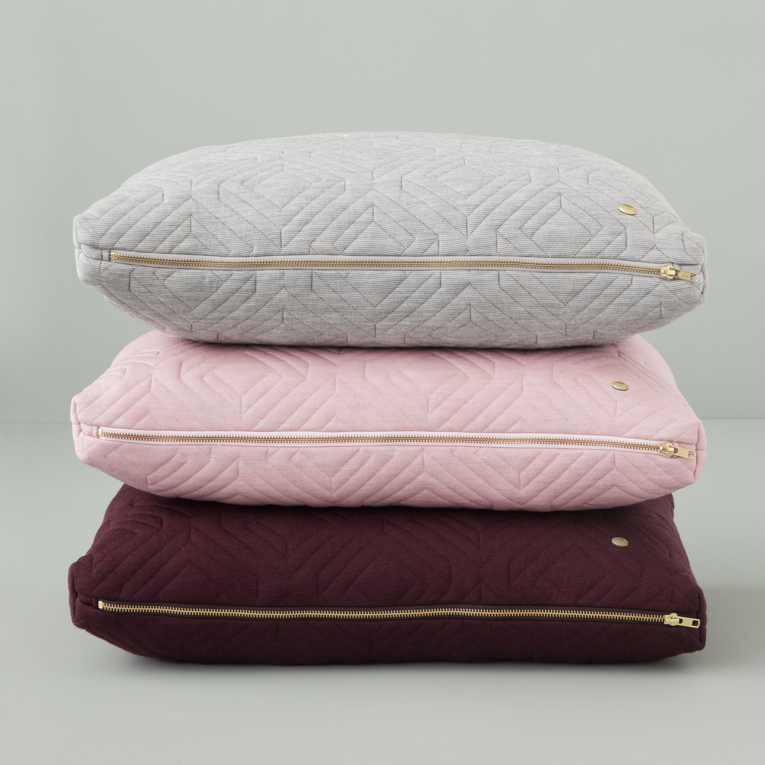 Quilted Cushion - Light Grey, Rose and Bordeaux £79 each