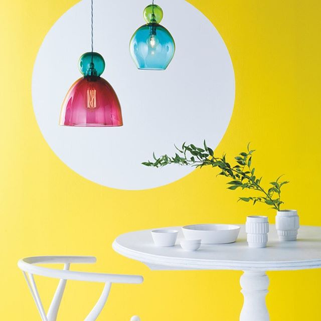 Gorgeous new Oshka pendants from @curiousastudio 💗💛💚 #newcollection #interiors #hearthomemag