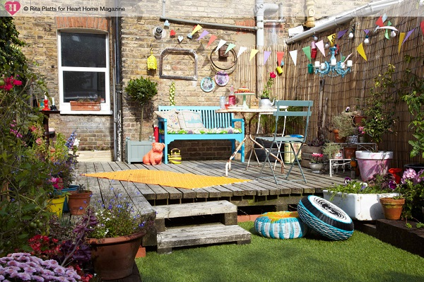 This colourful space provides the perfect spot to both entertain and relax during the warmer months.