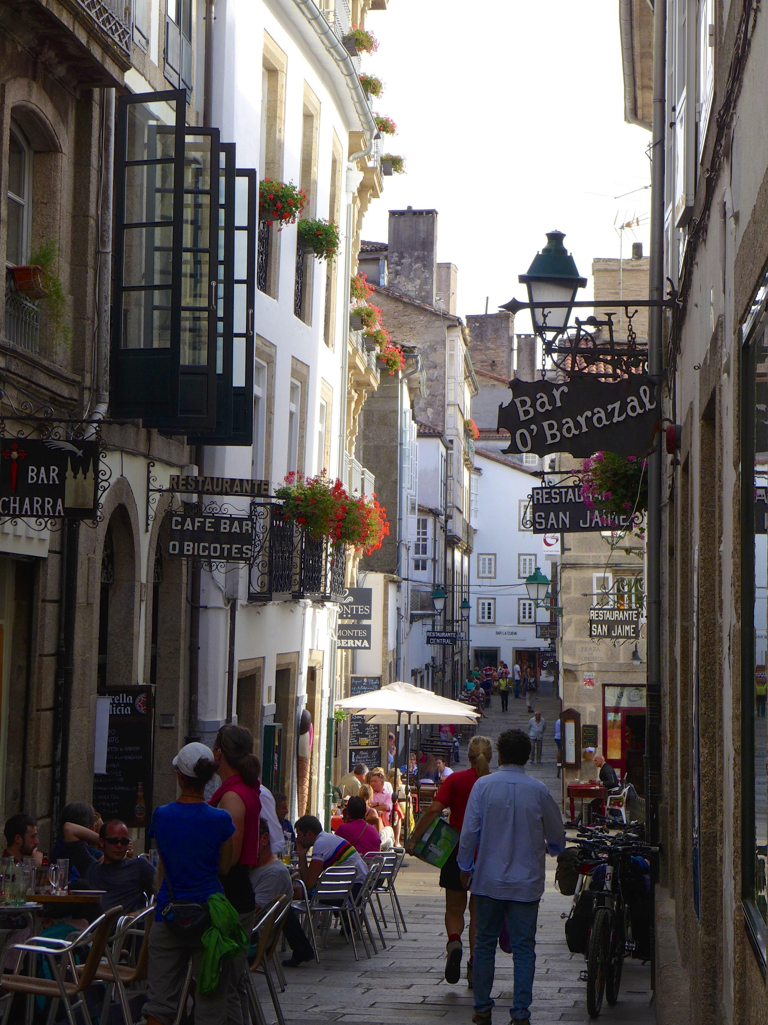 Street scene in Santiago