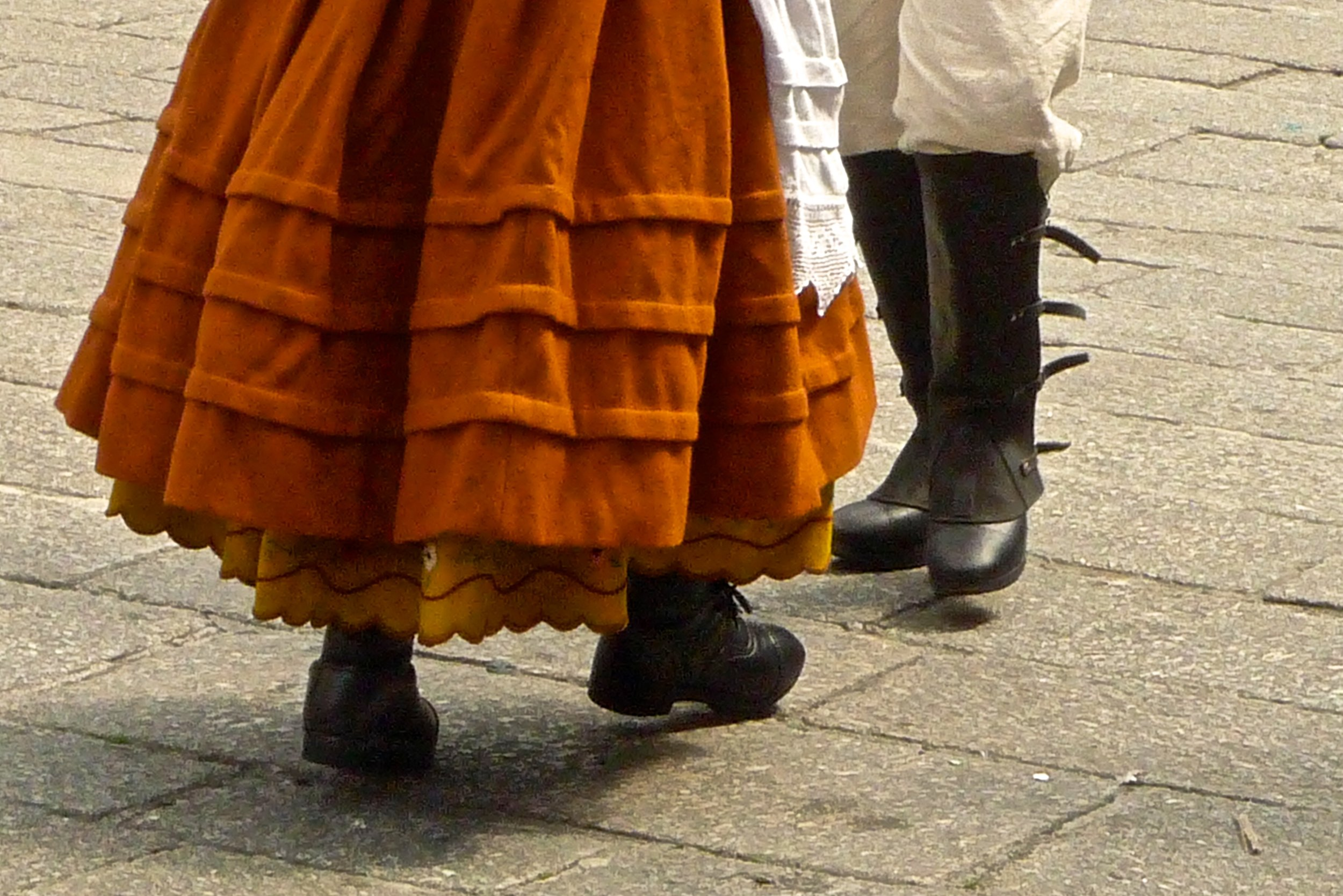 Dancing the traditional muñeira