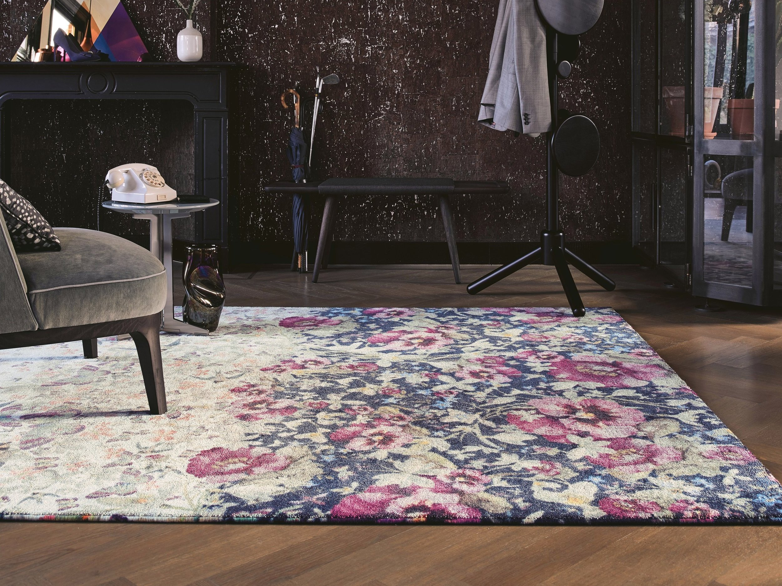 Gorse Pale Blue Rug available in two sizes, priced from £994