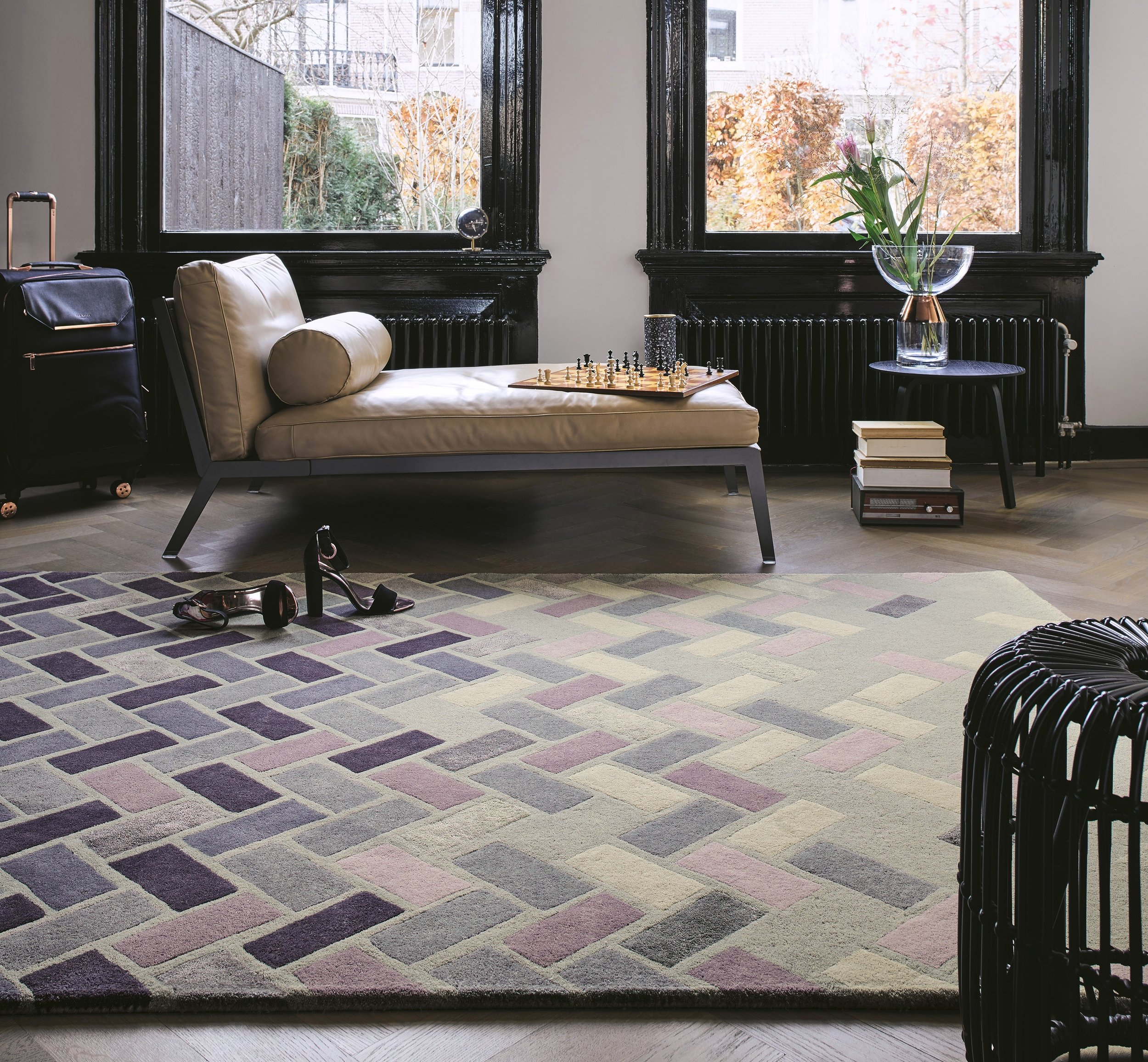 Agave Ash Grey Rug (also in Deep Purple), available in three sizes, prices from £399