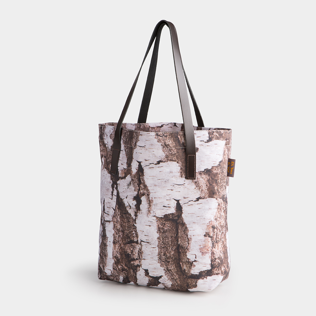 Ella Doran for YSP, Woodland Bark Tote Bag. Courtesy the artist and Yorkshire Sculpture Park