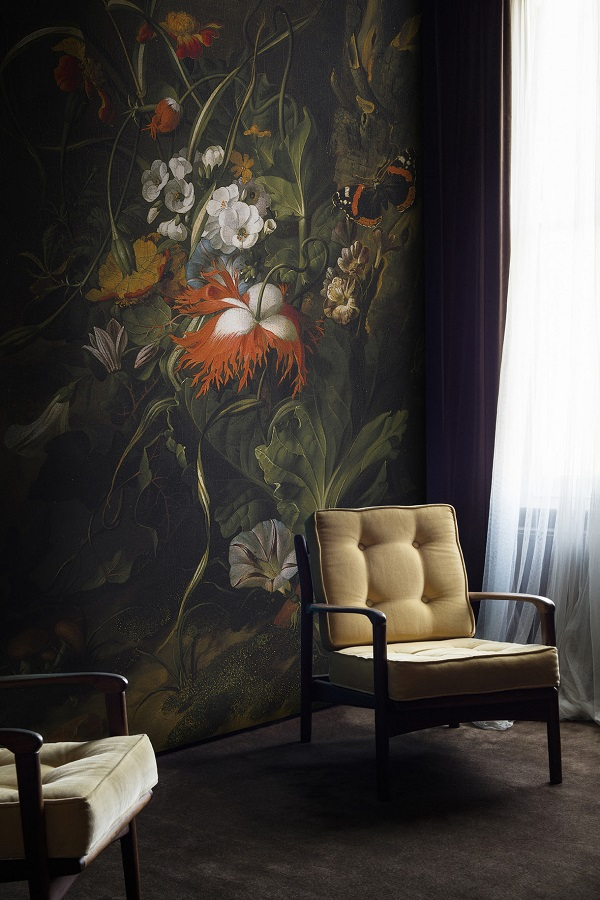 A 'Forest Floor' Still Life Of Flowers Mural By Rachel Ruysch from the  Ashmolean Collection