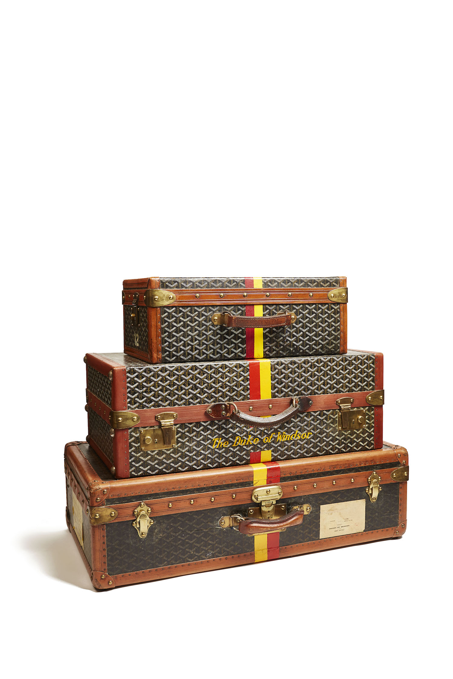 Duke and Duchess of Windsor's Luggage, Goyard, about 1950 © Miottel Museum, Berkeley, California. Photograph courtesy of Peabody Essex Museum, Salem, Massachusetts