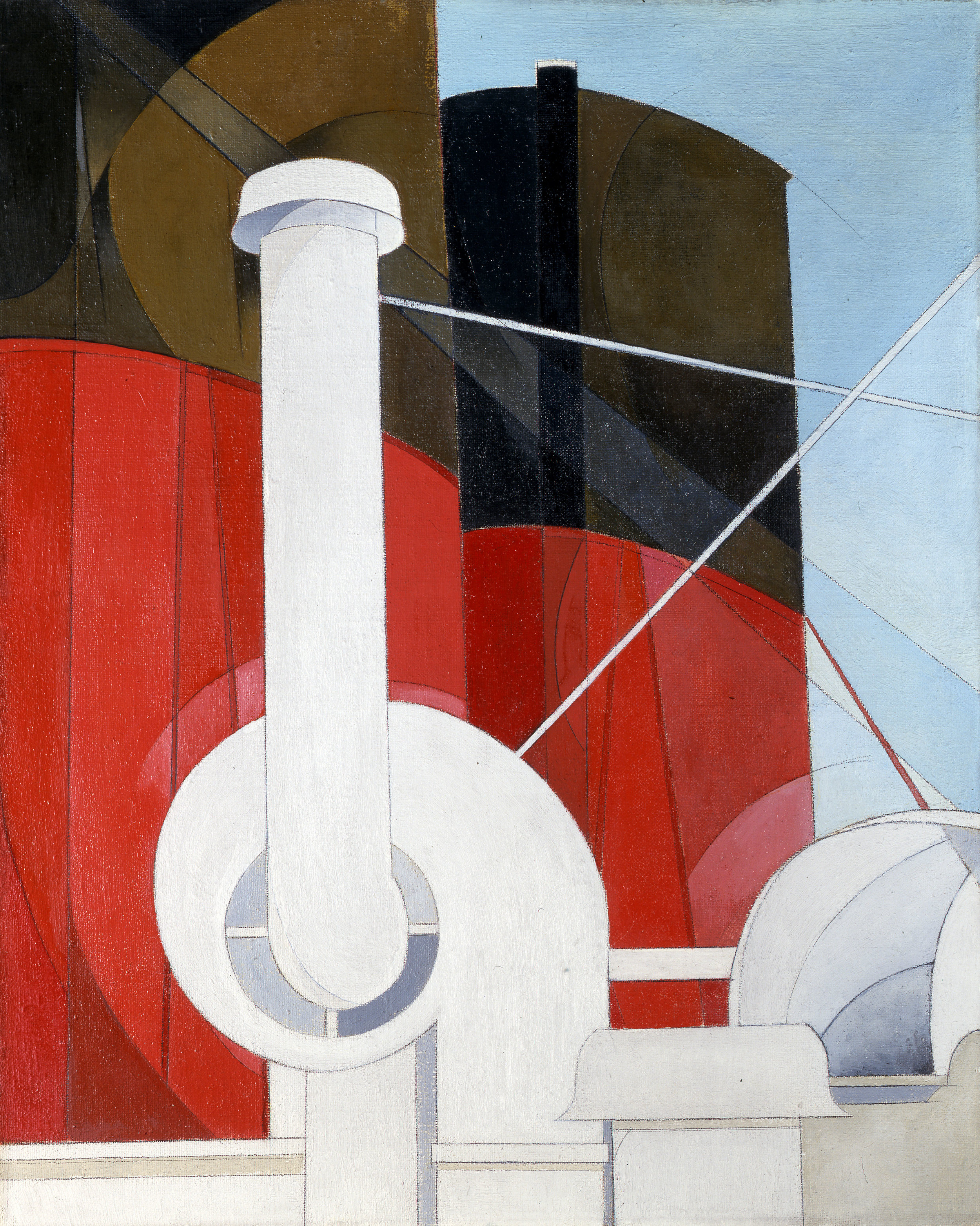 Paquebot 'Paris', Charles Demuth, United States, 1921 -22. Gift of Ferdinand Howald © Columbus Museum of Art, Ohio