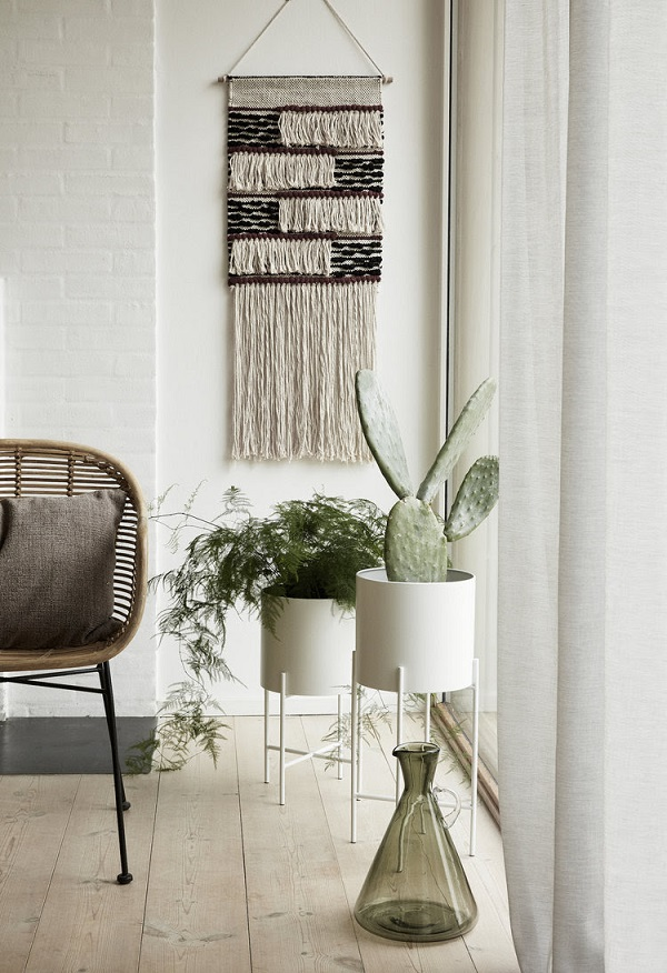 White Pot with Plant Stand, from £48