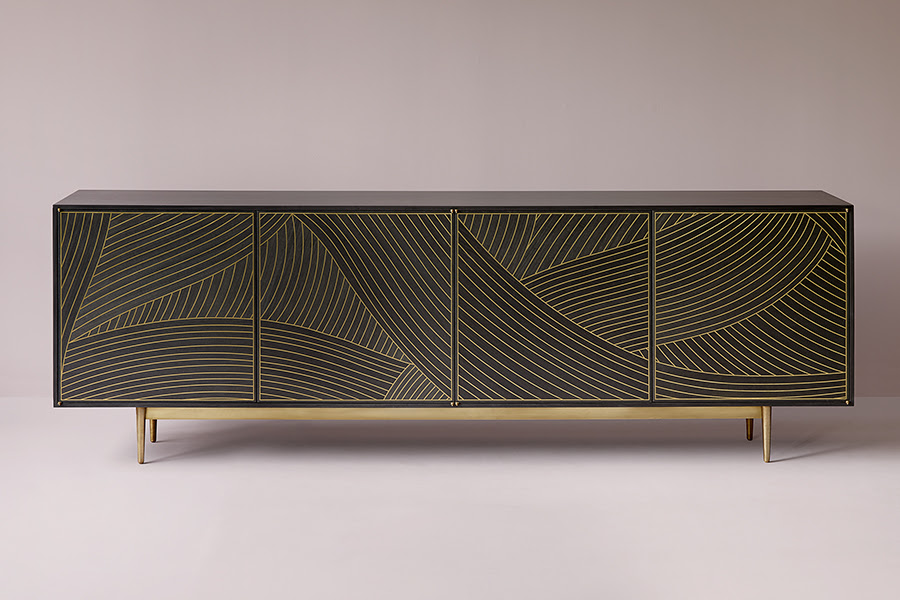 Dhow Cabinet in Charcoal