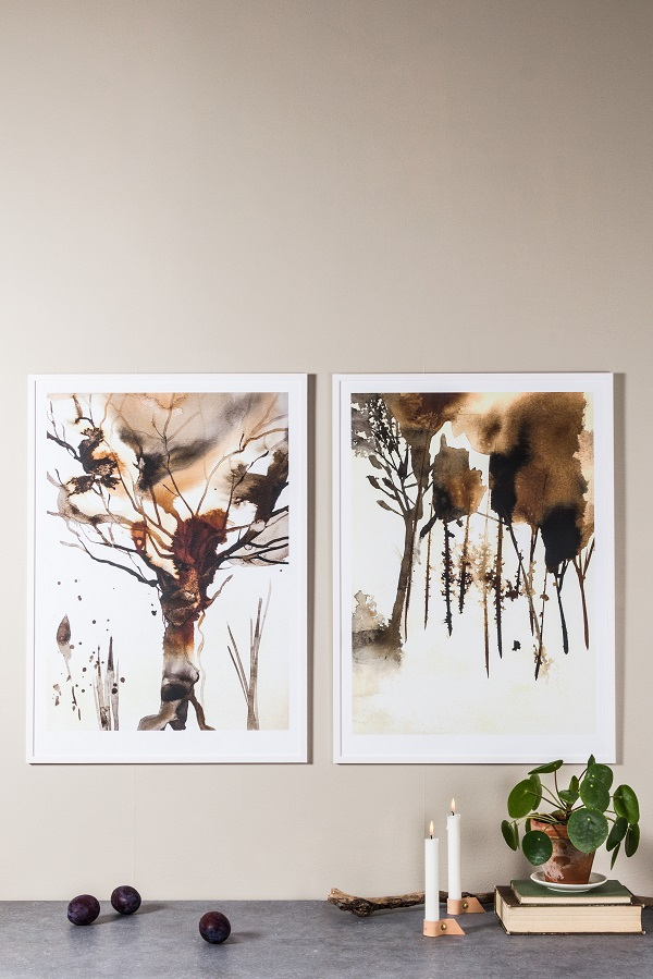 Nordic Kind of Autumn Ink Paintings