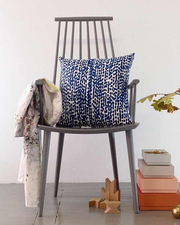 Hand Printed Cushion Cover with the 'Mångfald' (Diversity) Pattern