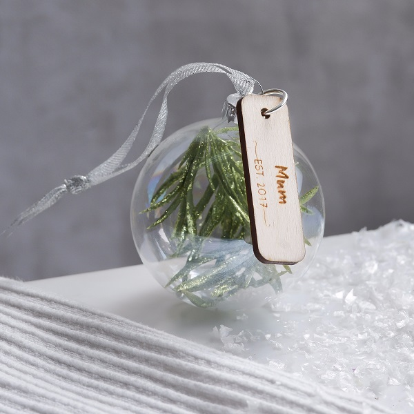 Personalised Christmas Bauble For Mum, £12.50