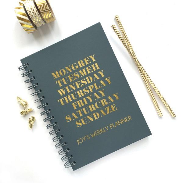 Personalised Weekly Planner, £22