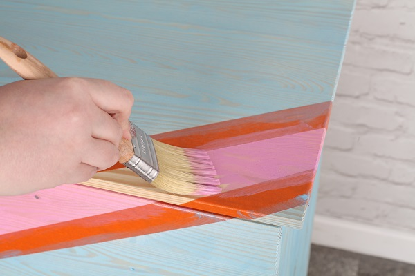 2.  Ikea hack - Colour Wash Chevron Chest of Drawers.jpg