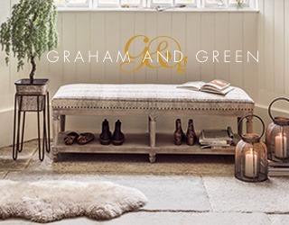 Graham & Green   Founder Antonia Graham has a passion for travel she continues to scour the globe to find decorative home accessories. Son Jamie, has inherited her fantastic eye for design and his love of 1930s, 40s and 50s style is a rich source of inspiration for their furniture collections.   www.grahamandgreen.co.uk