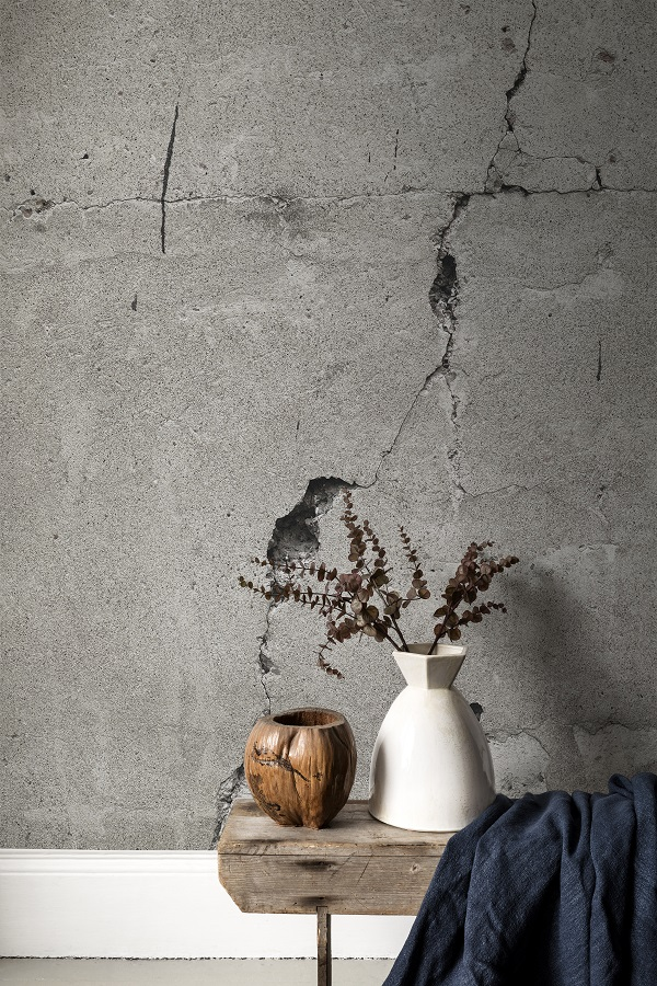 Cracked Concrete from Textures collection, Bespoke wall murals from £65 per sq/m.