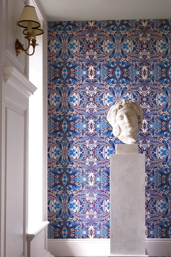 Blue fantasy wallpaper