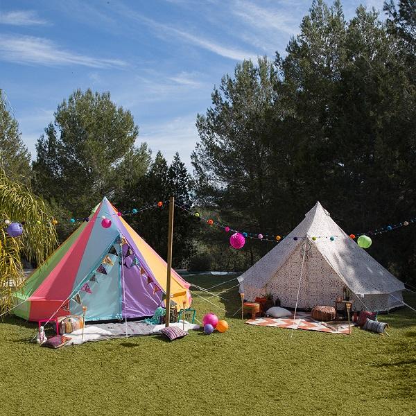 The Weekender Tent - Rainbow & Aztec