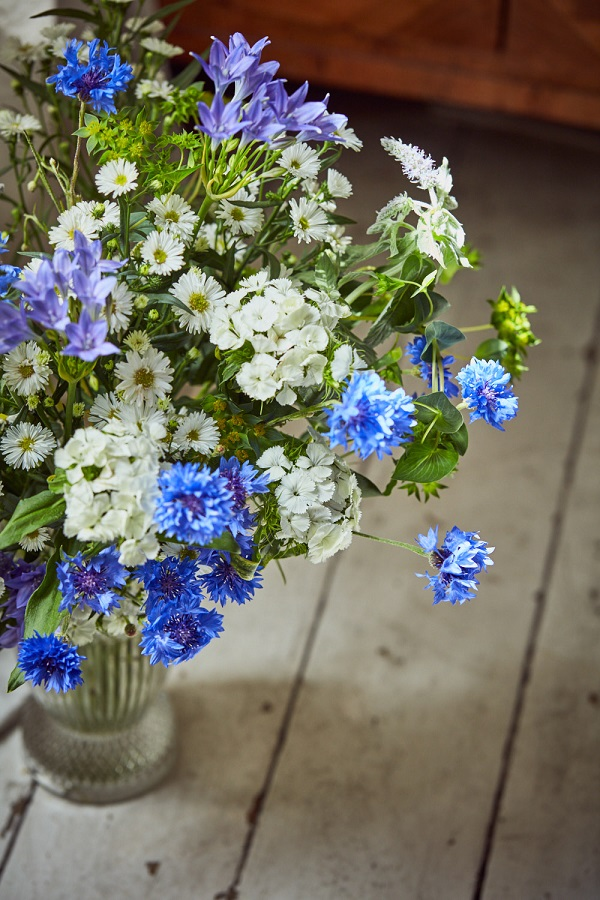 Violet Letterbox Bouquet of Meadow Flowers