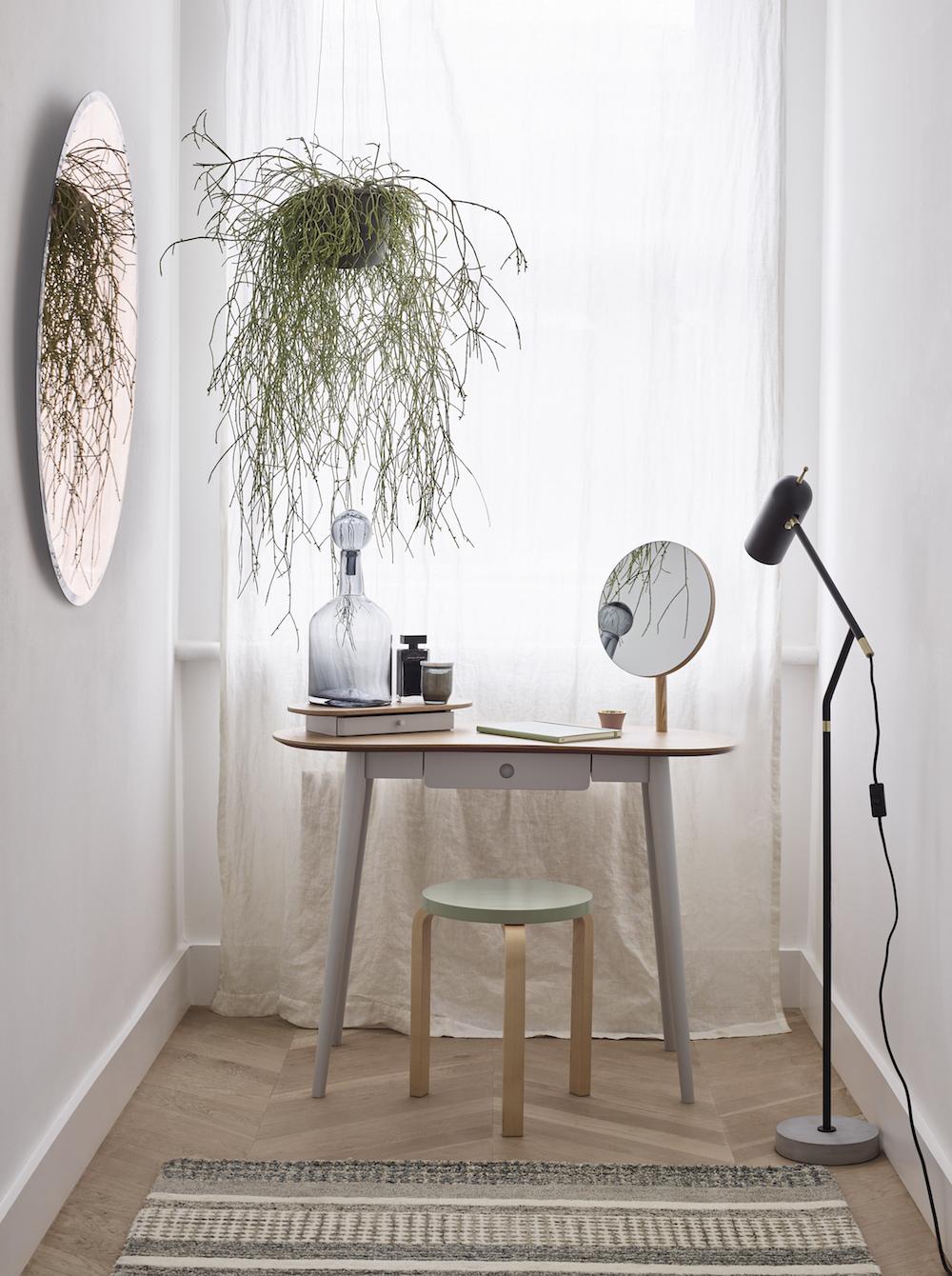Greyson Dressing Table £350, Artek Stool 60 Birch & White £180.40