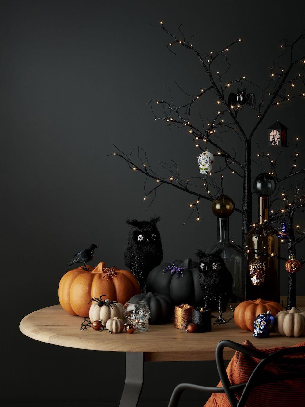 John Lewis & Partners Pre Lit Black Tree 60CM £22, Black Owl 24 CM £10.jpg