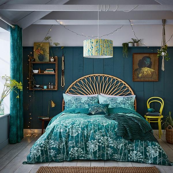 Dill Double Duvet, £55, Oxford Pillowcase, £15, Cushion £40.