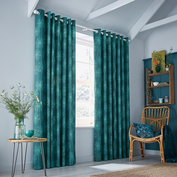 Dill Curtains, From £75, Cushion, £40.